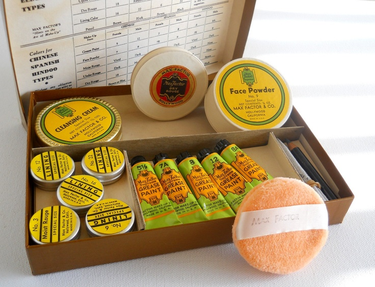 Early Max Factor flexible greasepaint and powder set.