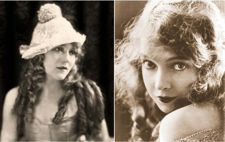 Mary Pickford and Lillian Gish were stars in the earliest silent movies from the 1910s onwards