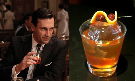 Don Draper Drinking Old Fashioned