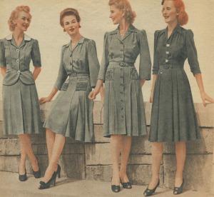 1940s day dress - war years