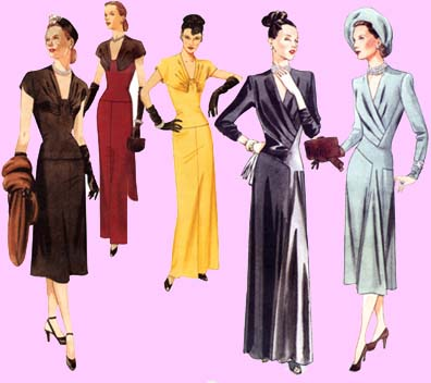 1940's Designer Clothing For Women number of clothes items