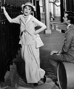 Audrey Hepburn and Jeremy Brett in a scene from MY FAIR LADY, 1964.