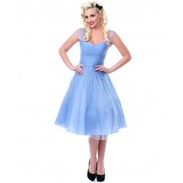 unique-vintage-perriwinkle-blue-garden-cocktail-dress