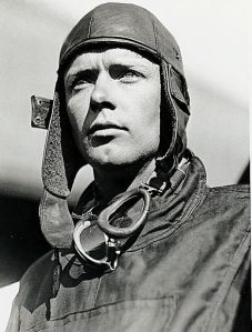 PICTURE SHOWS : CHARLES LINDBERGH PICTURED AT LONG ISLAND NEW YORK