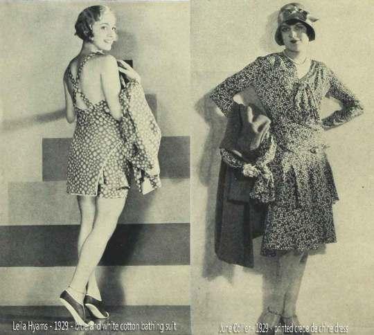 Leila-Hyams-June-Collier-1929-summer-fashions