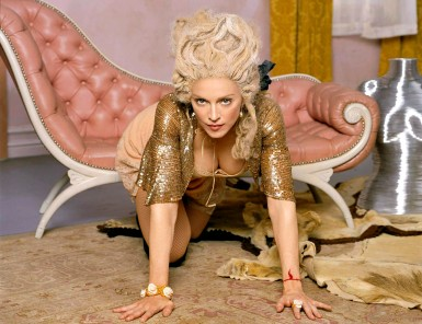This undated photo of Madonna was released Monday March 22, 2004, to promote her Re-Invention Tour which is set to begin in Los Angeles on May 24. (AP Photo/MBC PR) MUSIC MADONNA